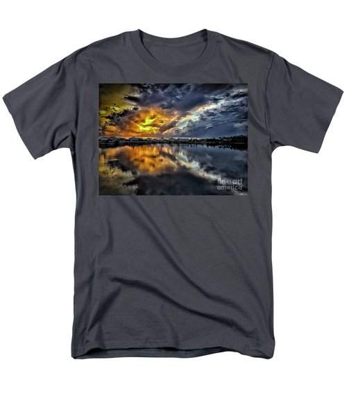 Oyster Lake Sunset Men's T-Shirt  (Regular Fit) by Walt Foegelle