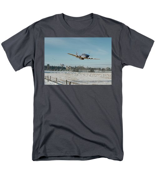 Men's T-Shirt  (Regular Fit) featuring the digital art P51 Mustang - Bodney Blue Noses by Pat Speirs