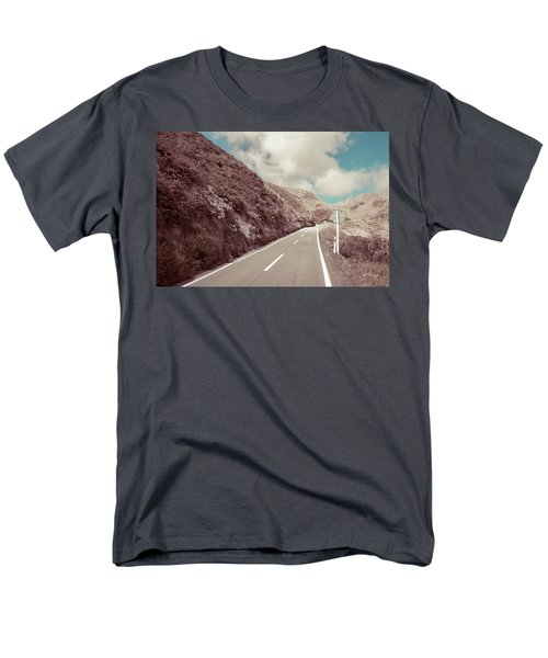 Men's T-Shirt  (Regular Fit) featuring the photograph Paekakariki Hill Road by Joseph Westrupp