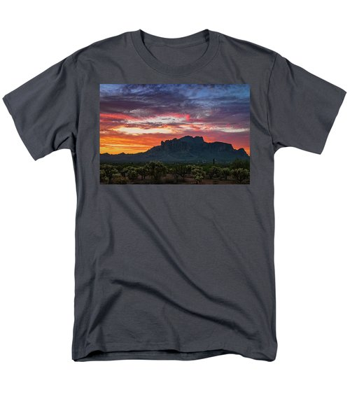 Men's T-Shirt  (Regular Fit) featuring the photograph Painted Desert Skies Over The Supes  by Saija Lehtonen