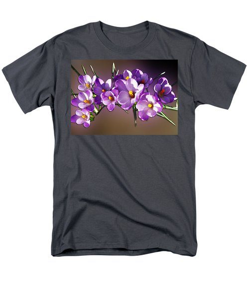 Men's T-Shirt  (Regular Fit) featuring the photograph Painted Violets by John Haldane