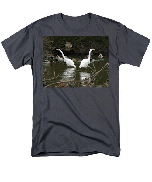 Pair Of Egrets Men's T-Shirt  (Regular Fit) by George Randy Bass