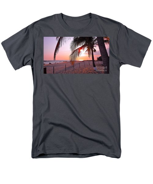 Palm Collection - Sunset Men's T-Shirt  (Regular Fit) by Victor K