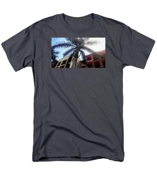 Palm Tree Art Men's T-Shirt  (Regular Fit) by Rena Trepanier