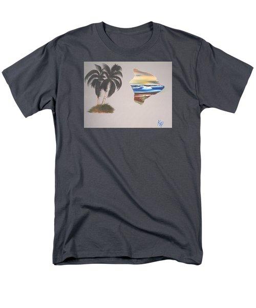 Palms And Big Island Men's T-Shirt  (Regular Fit) by Karen Nicholson