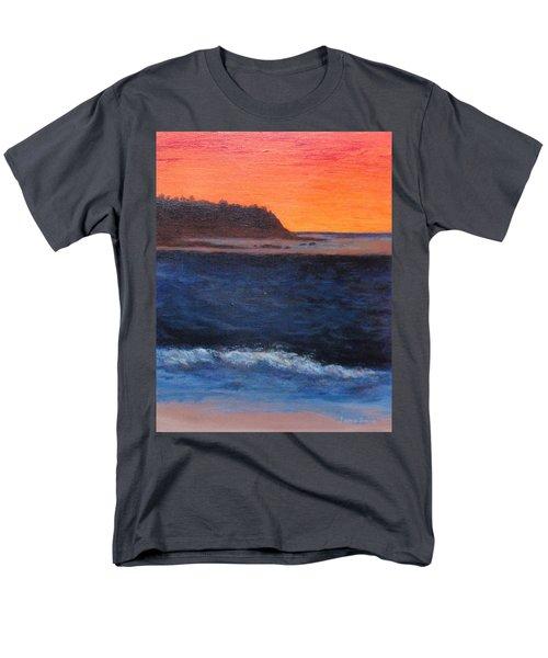 Men's T-Shirt  (Regular Fit) featuring the painting Palos Verdes Sunset by Jamie Frier
