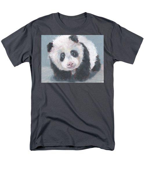 Men's T-Shirt  (Regular Fit) featuring the painting Panda For Panda by Jessmyne Stephenson