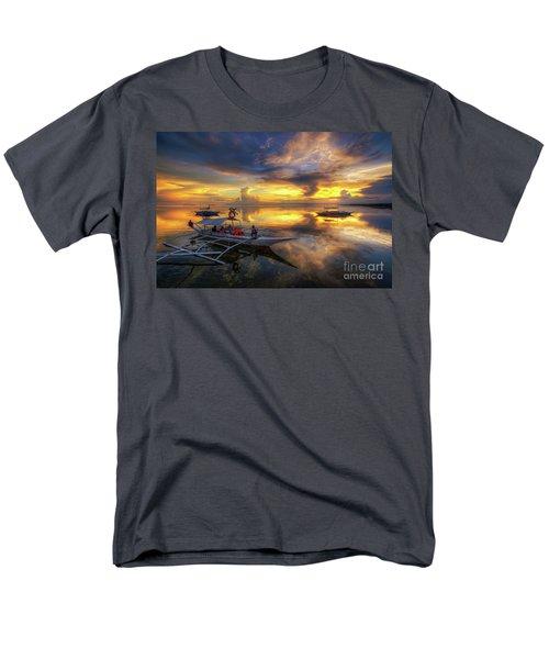 Men's T-Shirt  (Regular Fit) featuring the photograph Panglao Port Sunset 10.0 by Yhun Suarez