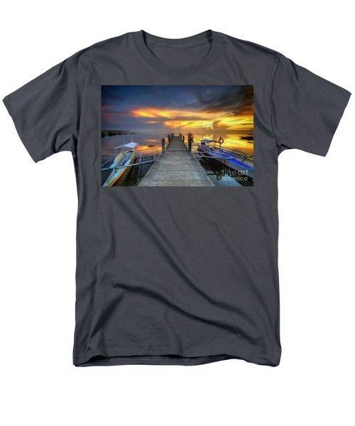 Men's T-Shirt  (Regular Fit) featuring the photograph Panglao Port Sunset 8.0 by Yhun Suarez
