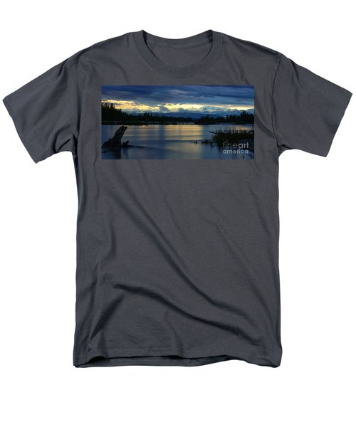 Pano Alaska Midnight Sunset Men's T-Shirt  (Regular Fit) by Jennifer White