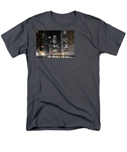Panoramic Lakefront View In Chicago Men's T-Shirt  (Regular Fit) by Frozen in Time Fine Art Photography