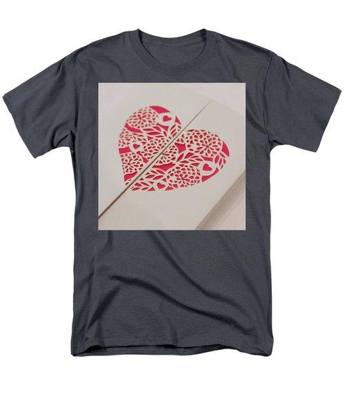 Paper Cut Heart Men's T-Shirt  (Regular Fit) by Helen Northcott