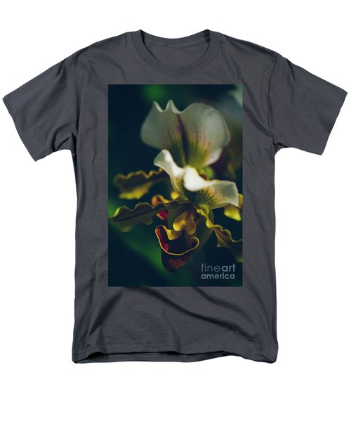 Men's T-Shirt  (Regular Fit) featuring the photograph Paphiopedilum Villosum Orchid Lady Slipper by Sharon Mau