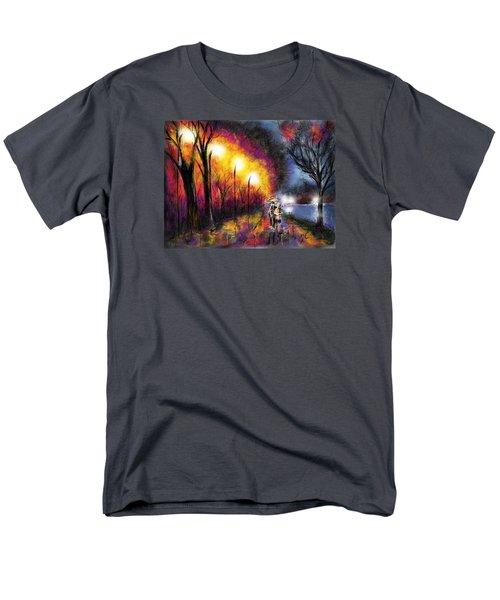 Men's T-Shirt  (Regular Fit) featuring the digital art Paris Evening by Darren Cannell