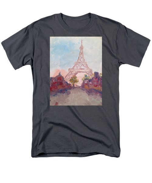Paris In Pastel Men's T-Shirt  (Regular Fit) by Roxy Rich