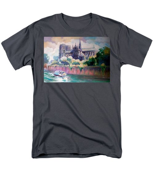 Paris Notre Dame Men's T-Shirt  (Regular Fit) by Paul Weerasekera