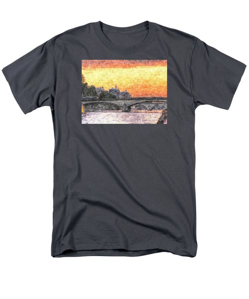 Paris Sunset Men's T-Shirt  (Regular Fit) by Yury Bashkin