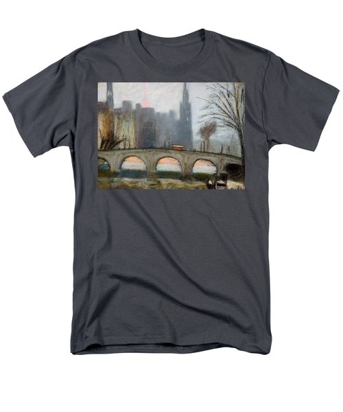 Men's T-Shirt  (Regular Fit) featuring the painting Parisian Gray by Gary Coleman