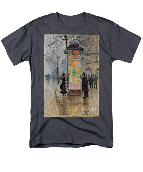 Parisian Street Scene Men's T-Shirt  (Regular Fit) by John Stephens