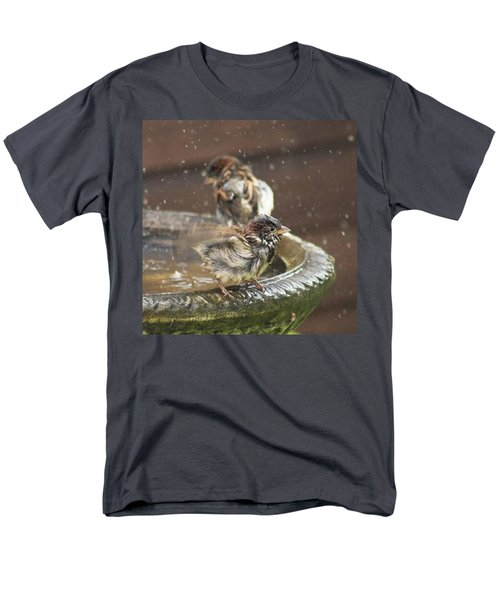 Pass The Towel Please: A House Sparrow Men's T-Shirt  (Regular Fit) by John Edwards