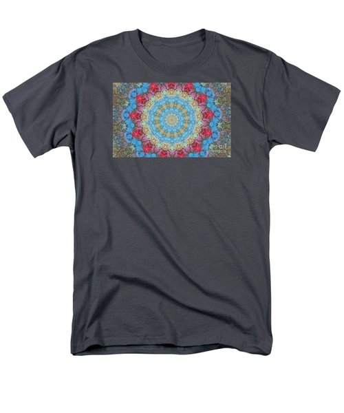 Pastel Medallion 2 Men's T-Shirt  (Regular Fit) by Shirley Moravec