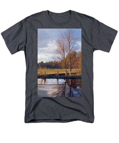 Pasture Pond Men's T-Shirt  (Regular Fit) by Laurie Stewart