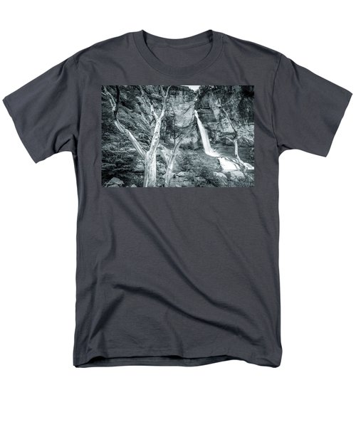 Men's T-Shirt  (Regular Fit) featuring the photograph Patagonian Waterfall by Andrew Matwijec
