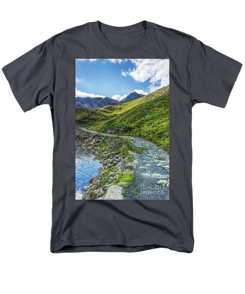 Path To Snowdon Men's T-Shirt  (Regular Fit) by Ian Mitchell