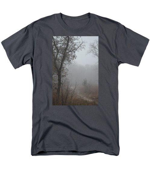 Men's T-Shirt  (Regular Fit) featuring the photograph Pathway In The Fogs Of Life by Carolina Liechtenstein