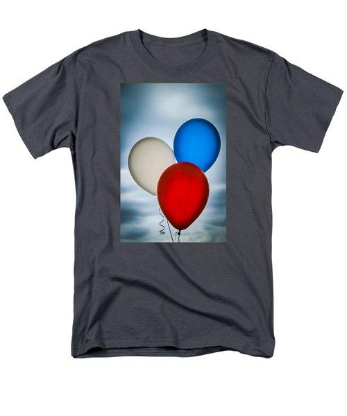 Patriotic Balloons Men's T-Shirt  (Regular Fit) by Carolyn Marshall