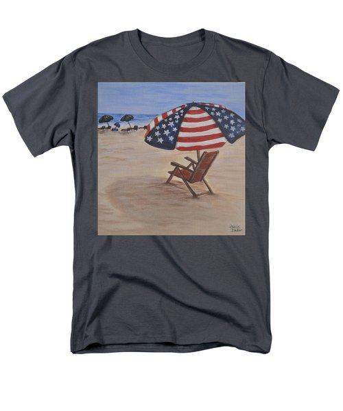 Patriotic Umbrella Men's T-Shirt  (Regular Fit) by Debbie Baker