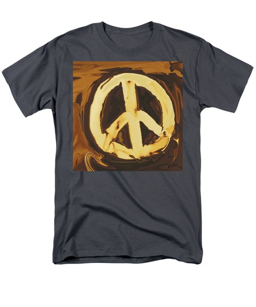 Men's T-Shirt  (Regular Fit) featuring the digital art Peace 2 by Rabi Khan