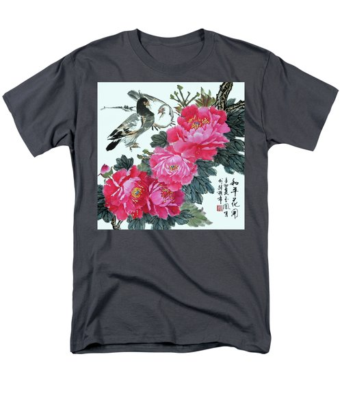 Men's T-Shirt  (Regular Fit) featuring the photograph Peace Flowers by Yufeng Wang