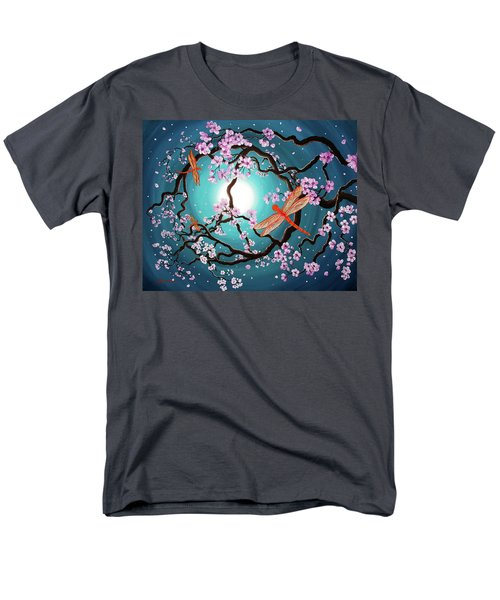 Peace Tree With Orange Dragonflies Men's T-Shirt  (Regular Fit) by Laura Iverson