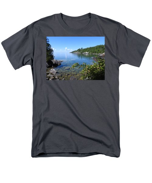 Men's T-Shirt  (Regular Fit) featuring the photograph Peaceful Tranquilty_ Surrounded By Danger by Janice Adomeit