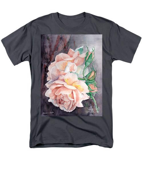 Peach Perfect - Painting Men's T-Shirt  (Regular Fit) by Veronica Rickard