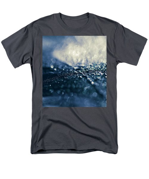 Men's T-Shirt  (Regular Fit) featuring the photograph Peacock Macro Feather And Waterdrops by Sharon Mau