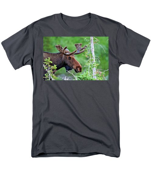 Men's T-Shirt  (Regular Fit) featuring the photograph Peaking Moose by Scott Mahon