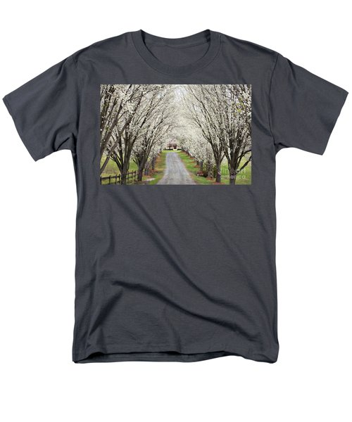 Men's T-Shirt  (Regular Fit) featuring the photograph Pear Tree Lane by Benanne Stiens