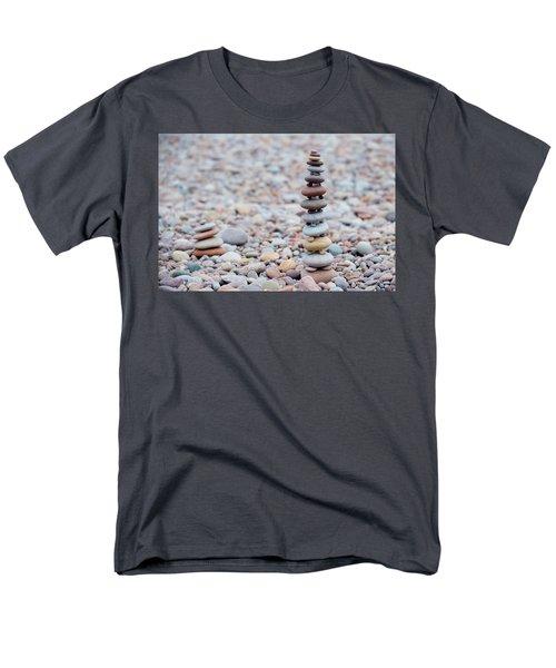 Pebble Stack II Men's T-Shirt  (Regular Fit) by Helen Northcott