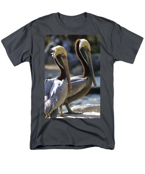 Pelican Duo Men's T-Shirt  (Regular Fit) by Dodie Ulery