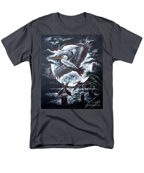 Pelican Moon Men's T-Shirt  (Regular Fit) by Scott and Dixie Wiley
