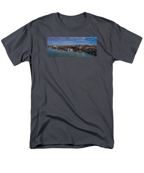 Pelicans At Eden Wharf Men's T-Shirt  (Regular Fit) by Racheal  Christian