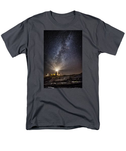 Men's T-Shirt  (Regular Fit) featuring the photograph Pemaquid Point Milky Way by Robert Clifford