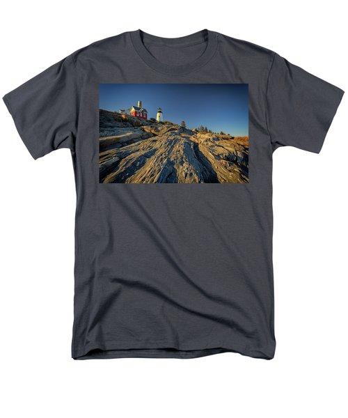 Pemaquid Point Men's T-Shirt  (Regular Fit) by Rick Berk