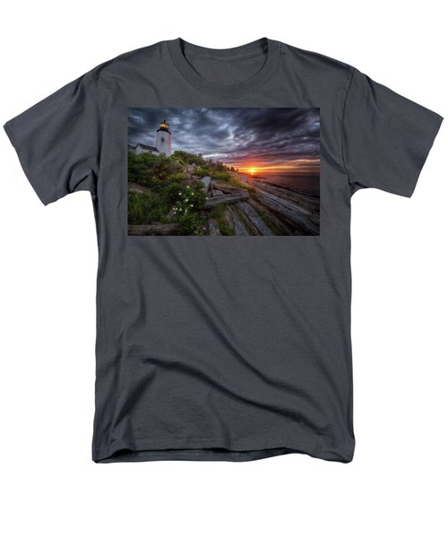 Pemaquid Sunrise Men's T-Shirt  (Regular Fit) by Neil Shapiro