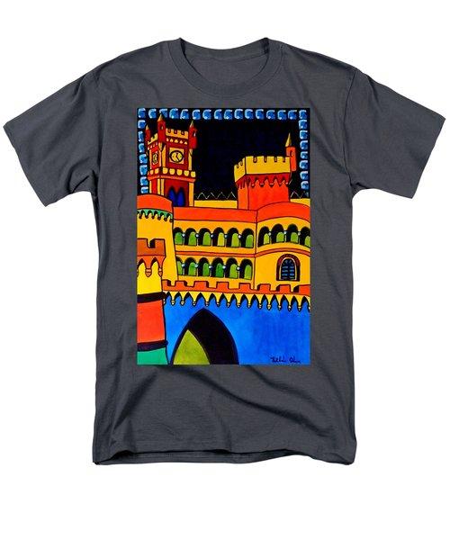 Pena Palace Portugal Men's T-Shirt  (Regular Fit) by Dora Hathazi Mendes