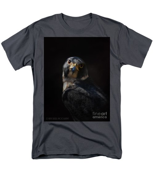 Peregrine Falcon Men's T-Shirt  (Regular Fit) by Kathy Russell