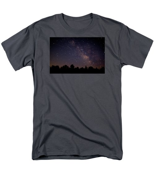 Perseid Meteor Shower Men's T-Shirt  (Regular Fit) by Jean Haynes