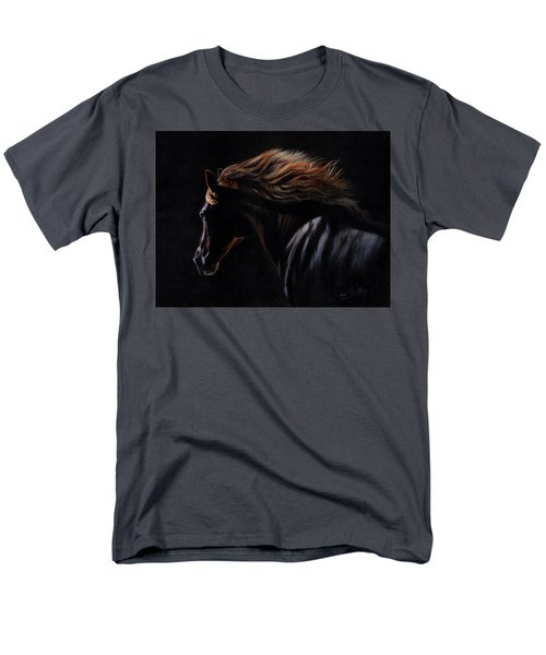 Men's T-Shirt  (Regular Fit) featuring the painting Peruvian Paso Horse by David Stribbling